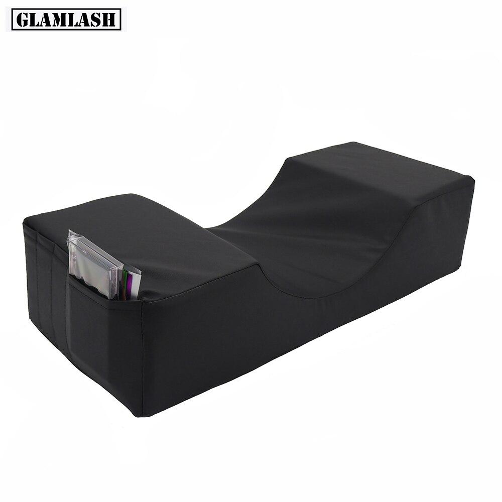GLAMLASH Matte Black Lash Pillow Grafting Eyelash Memory Foam Pillow Beauty Pillow Eyelash Extension Pillow Makeup Tool
