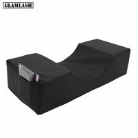 GLAMLASH Matte Black Lash Pillow Grafting Eyelash Memory Foam Pillow Beauty Pillow Eyelash Extension Pillow Makeup Tool