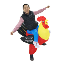 Halloween Cosplay Inflatable Rooster Costume Blow Up Suit Party Carnival Fancy Dress for Purim Adult Chicken Hen Stag Night Men