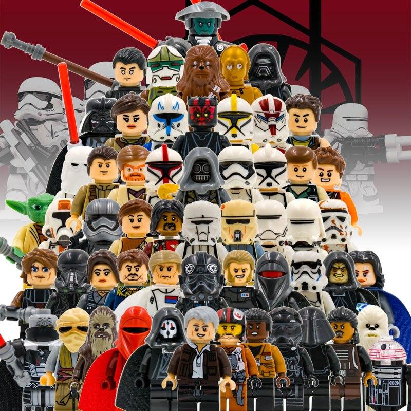 1pcs Star Wars Single Clone Trooper Cunner Zander Ponda Baba Anakin Leia Obi Wan Mon Mothma