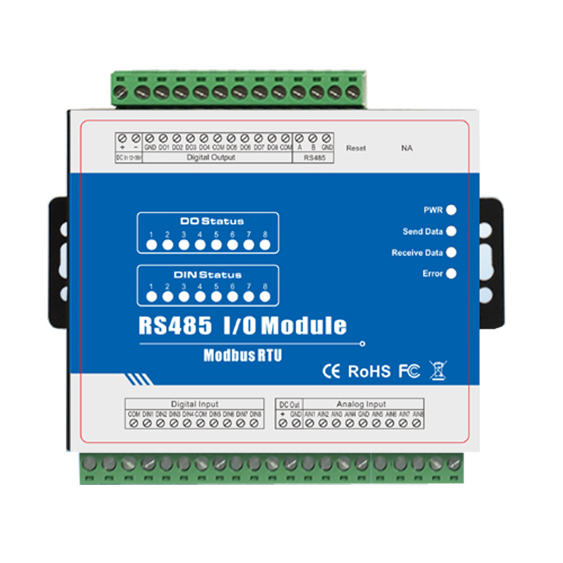 Modbus Remote IO Module IOT Data Acquisition High Speed Pulse Counter 8 Digital Input 8 Relay Output M160 m410t 16di rj45 rs485 high speed pulse counter ethernet remote io iot module modbus tcp data acquisition module 16 din