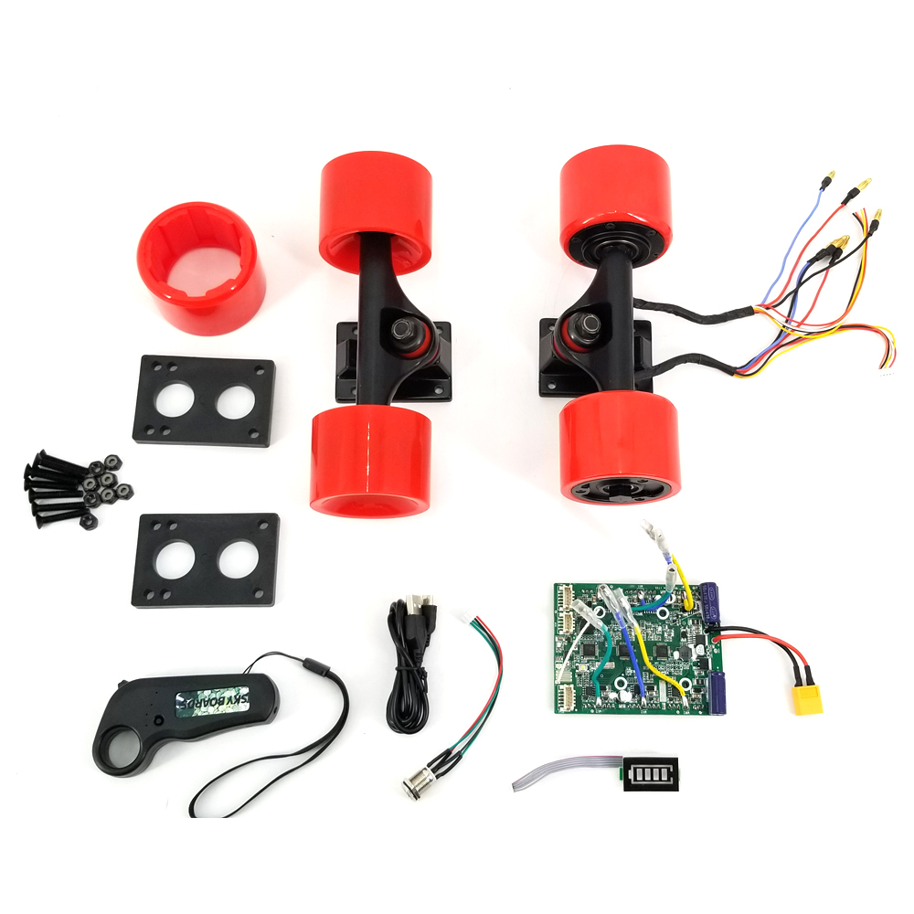 Electrical Skateboard Motor 3.5 5 7 Drive Truck 150W 70 Hub Motor Wheel Kit Removable Motor Covers With ESC Remote Dual Drive 2017 new 4 wheels electric skateboard scooter 600w with bluetooth remote controller replaceable dual hub motor 30km h for adults