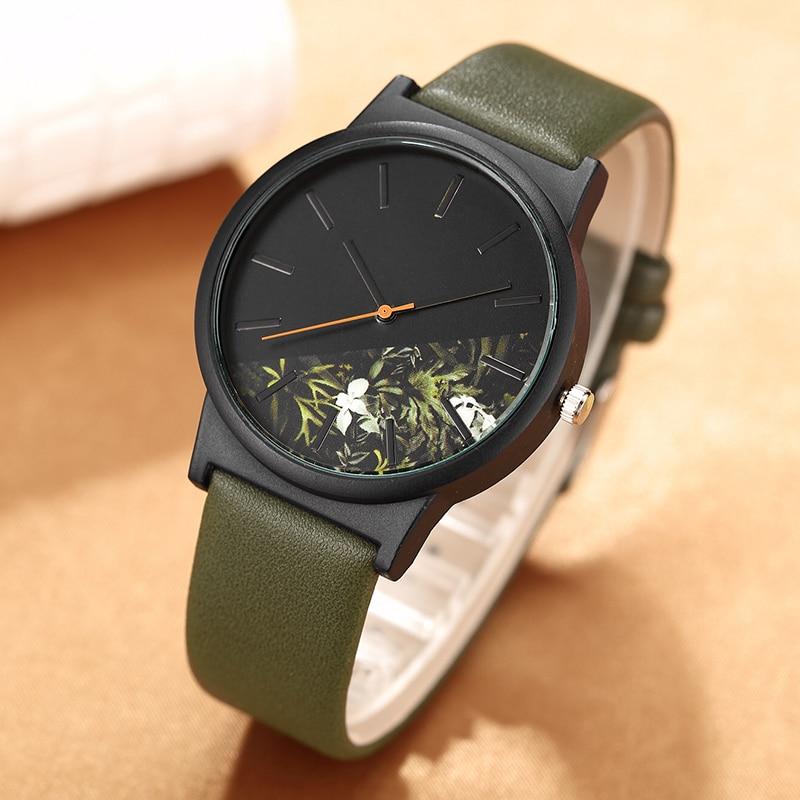 Hot Fashion Tropical Jungle Design Unisex Watch Unique Quartz Wristwatch For Men's Women's Creative Casual Sport Clock Hour Gift