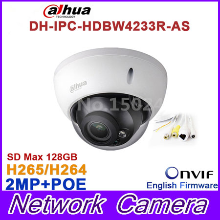 Original Brand DH-IPC-HDBW4233R-AS 2MP IR Mini Dome Network IP Camera IR POE Audio SD card Stellar H265/H264 IPC-HDBW4233R-AS костюм
