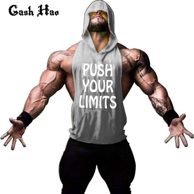 Gash Hao Hoodie Shirt Hooded Solid Hoodies Men Sweatshirts Undershirt Bodybuilding Fitness Cotton Golds Workout