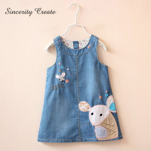 d9f3460c6d8 Baby Girls Princess Denim Dress summer sleeveless Tutu dress for girl Kids  Baby Party dress Toddler Kids Girls cut dress KD-1815
