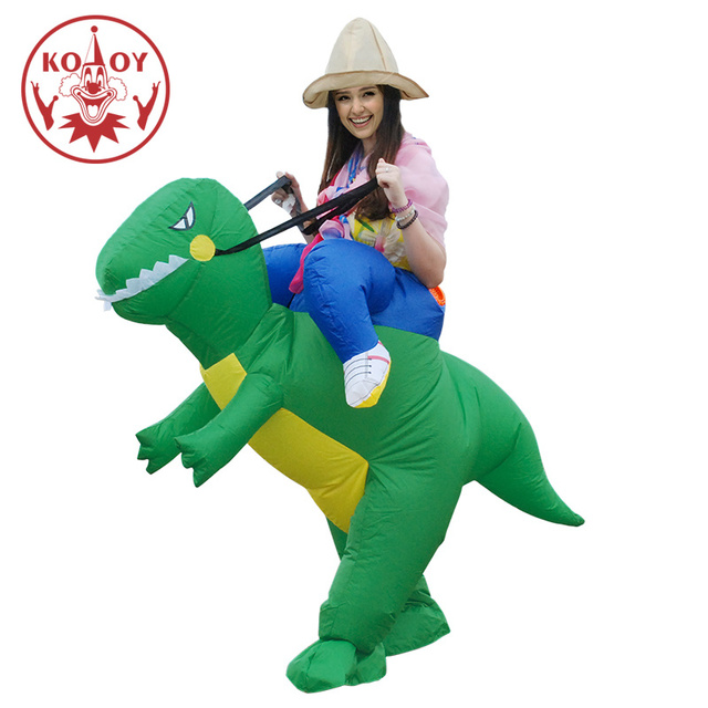 Adult Cosplay Costume Kids Inflatable Dinosaur Unicorn Cowboy Halloween Costumes For Women Wen Fantasia Party Jumpsuit 2
