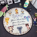 INS Hot Sale 150cm Kids Game Picnic Mats Baby Round Crawling Blanket Round Play Mat Chilren Play Rug  Infant Room 100% Cotton