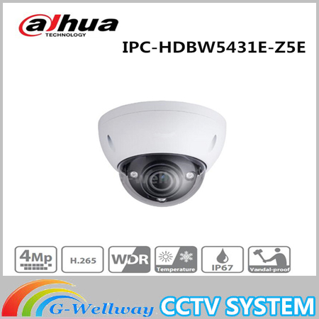 Free Shipping DAHUA Security IP Camera CCTV 4MP WDR IR Dome Network Camera IP67 IK10 With POE+ Without Logo IPC-HDBW5431E-Z5E free shipping dahua cctv security ip camera 3mp wdr ir bullet network camera ip67 ik10 with poe without logo ipc hfw8331e z5