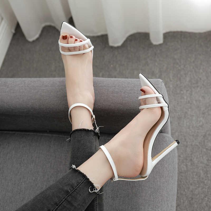 Silentsea النساء أحذية الأزياء صناديل للنساء أنيقة عالية الكعب الأحذية الإناث مثير مشبك السيدات الأزياء والأحذية اعوج Sandalias