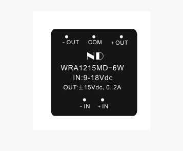 12V to 15V Dual output 6W dc dc converters wide input voltage Isolated dc dc power