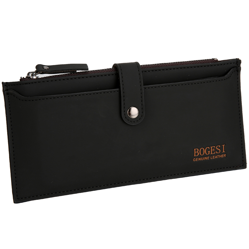 with zipper new 2018 men wallets famous brand long thin wallet male money purses with Flip up ID Window walet Wholesale price