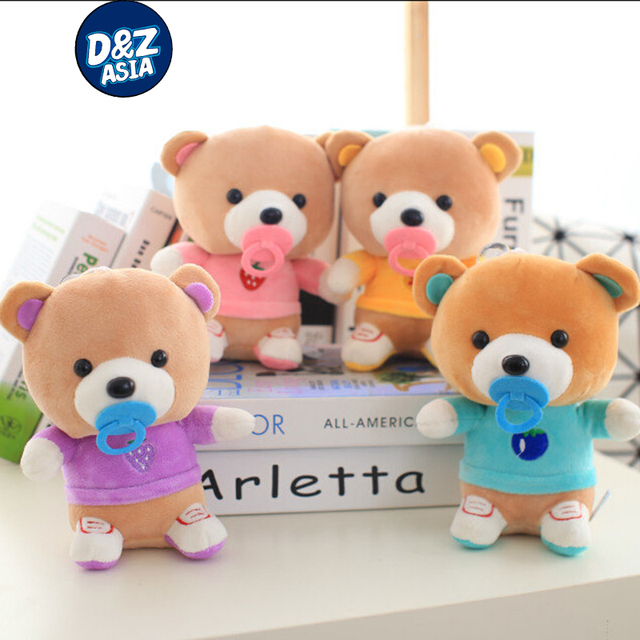 Plush toy bear bear plush doll shoes nipple sucker pendant wedding gifts for children baby doll toys