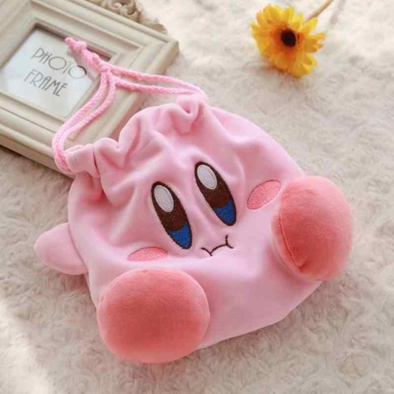 1 adet Kawaii Kirby Yıldız Peluş Çanta Oyuncak Kirby Peluş İpli Cep İpli Çanta Peluş Sikke çanta para kesesi peluş oyuncaklar Hediye