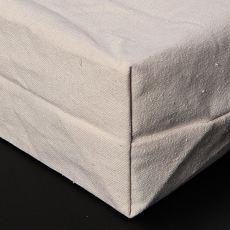 50pcs/lot 2 Size White/black Blank pattern Canvas Shopping Bags Eco Reusable Foldable Shoulder Bag Handbag Tote Cotton Tote Bag