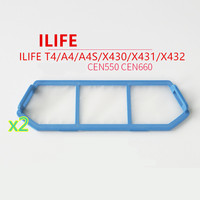 2PCS Original Robot Vacuum Cleaner Primary Filter For ILIFE T4 A4 A4S X430 X431 X432