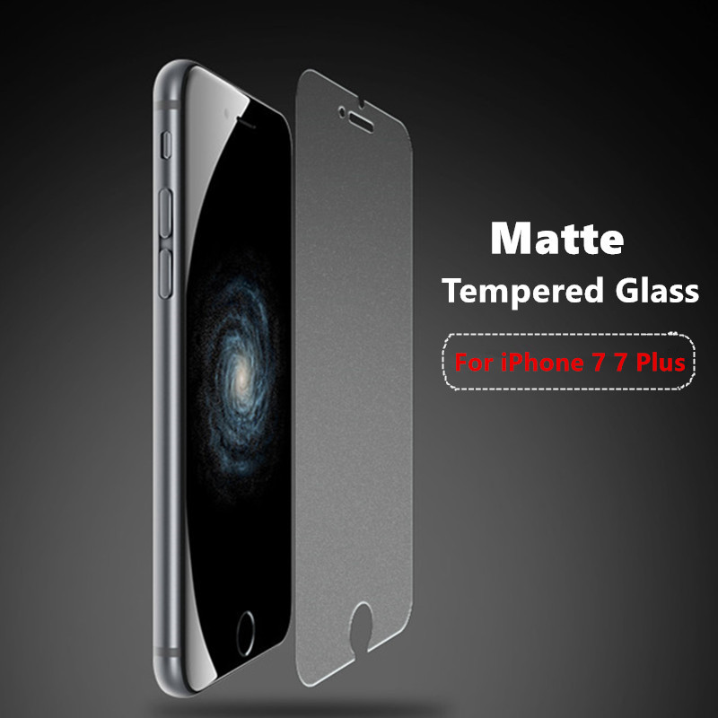 9H Frosted Tempered Glass Film For Apple iPhone 7 7Plus Premium Matte No Fingerprint Glass Screen