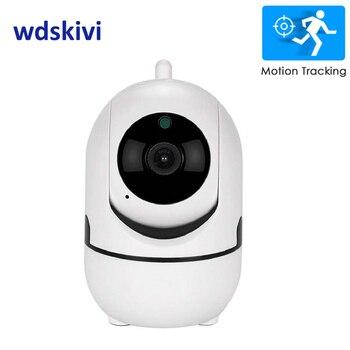 wdskivi Auto Track 1080P IP Camera Surveillance Security Monitor WiFi Wireless Mini Smart Alarm CCTV Indoor Camera YCC365 Plus Surveillance Cameras