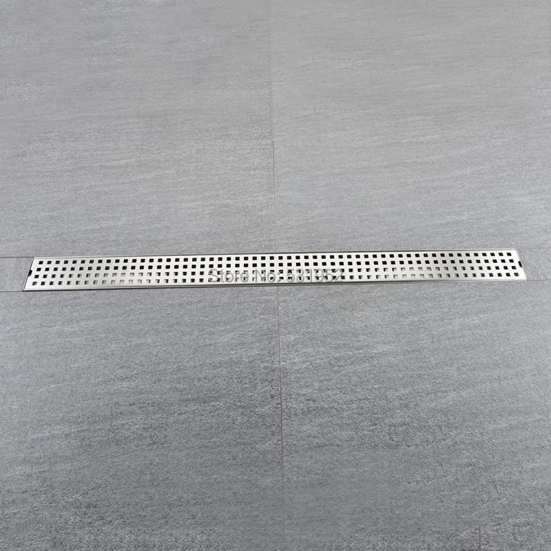 800 68MM Floor Drain Stainless Steel 304 Linear Shower Drain Vertical Long Drain Flange Bathroom Floor