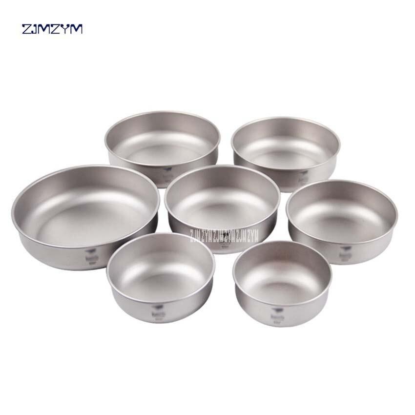 Ti5375 un ensemble 7 pièces titane matériau bol extérieur Camping vaisselle plein air camping pique-nique quotidien titane vaisselle ensemble