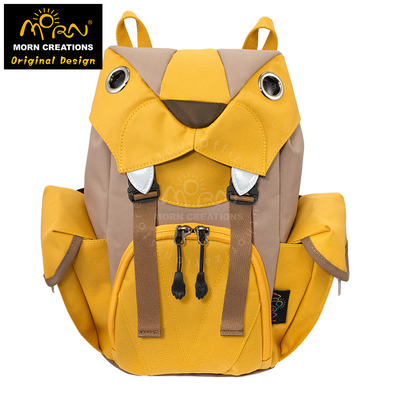 Morn Creations Water Repellent 600D Polyester fabric with YKK Zipper Big Cats Backpack Traveling