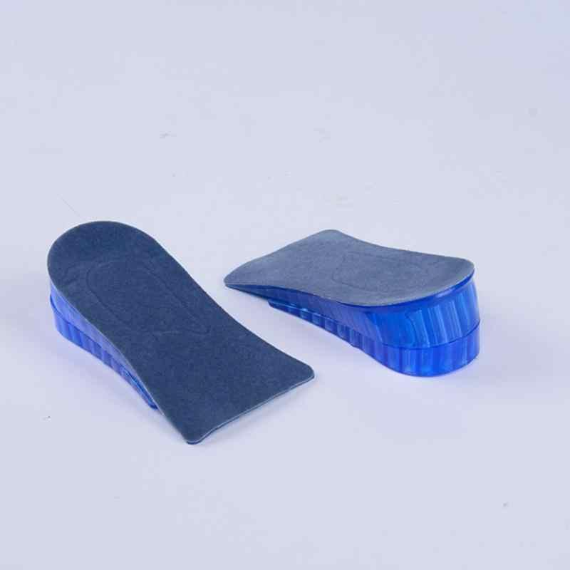 1 çift sıcak yeni rahat Unisex kadın erkek silikon jel kaldırma yüksekliği artış ayakkabı tabanlık topuk yetişkin bezi
