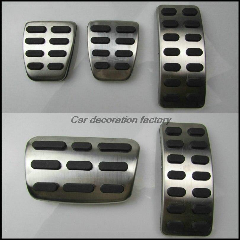 Carro inoxidável acelerador pedal de freio a gás embreagem pedal para hyundai solaris sedan hatchback 2012-2015