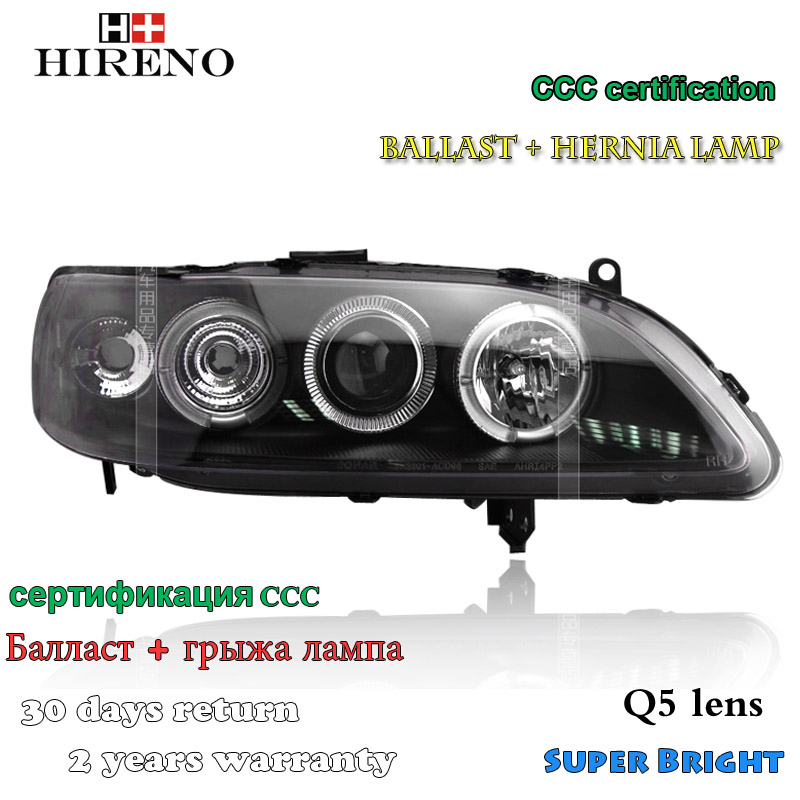 Hireno Car styling Headlamp for 1998-2002 Honda Accord Headlight Assembly LED DRL Angel Lens Double Beam HID Xenon 2pcs hireno car styling headlamp for 2003 2007 honda accord headlight assembly led drl angel lens double beam hid xenon 2pcs