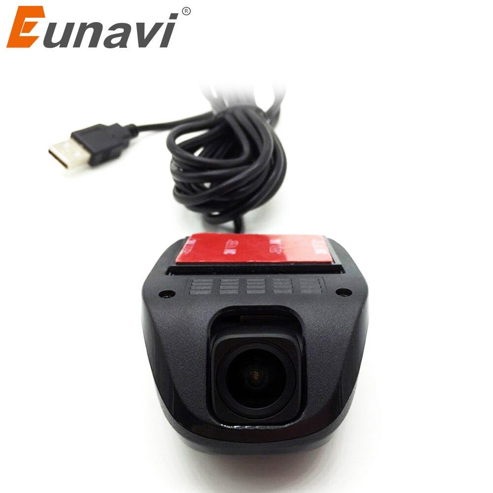 Eunavi Venta Directa venta Av-chino (simplificado) chino (tradicional) novatek Dash Cam Detector de coche Cámara Eunavi Usb Dvr para Dvd del coche de Android