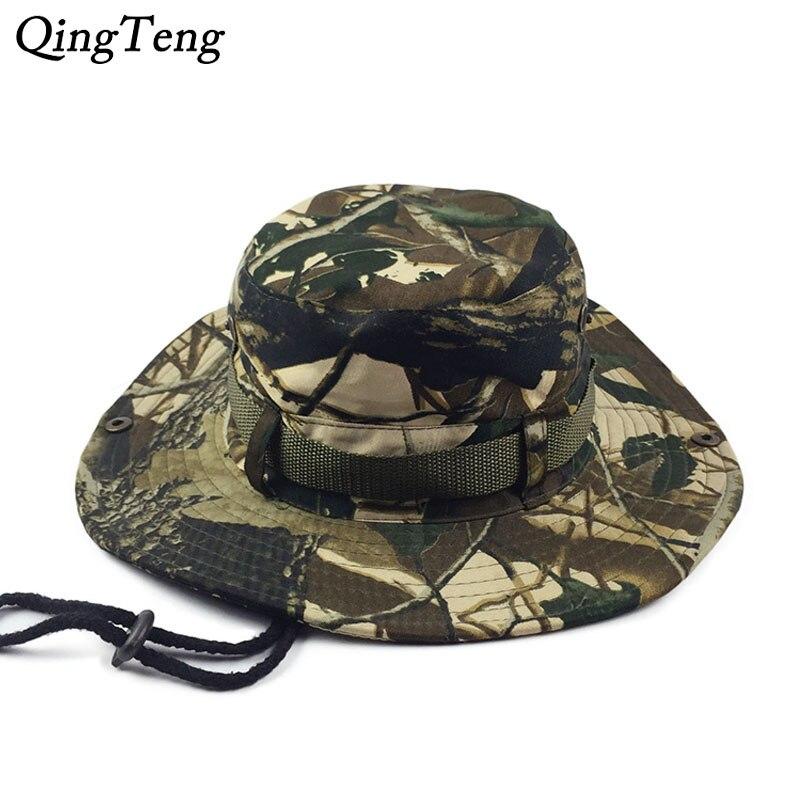 100% QualitäT Camo Boonie Eimer Hüte Für Männer Deadwood Camouflage Hut Armee Breiter Krempe Beiläufige Kappe Flach Gorras Die Nieren NäHren Und Rheuma Lindern