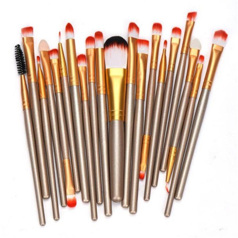2017 hot sale makeup brushes 20 pcs Makeup Brush Set tools Make-up Toiletry Kit Wool Make Up Brush Set  beauty health 17Dec 26 cheap sale hydration water bladder bag cleaning tube hose sucker brushes drying rack set