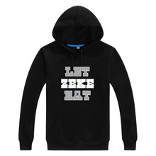 2017 Autumn Winter Cowboys Ezekiel Elliott Let Zeke Eat Men Sweashirt Women warm hoodies W1120128