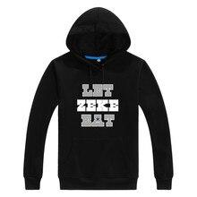 """2017 Autumn Winter Cowboys Ezekiel Elliott """"Let Zeke Eat"""" Men Sweashirt Women warm hoodies W1120128"""
