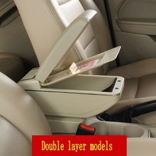 For Lada Priora armrest box central Store content box with cup holder ashtray decoration products accessories