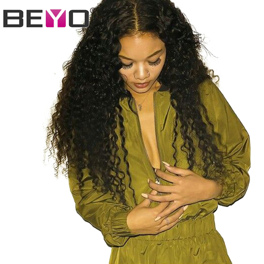 Beyo 360 Lace Frontal Wig Pre Plucked With Baby Hair Brazilian Water Wave Wig Remy Hair Lace Front Human Hair Wigs For Women
