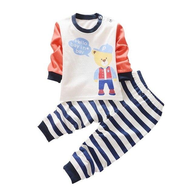 Autumn Baby Boy Children Clothing Sets Cotton Long Sleeve T-shirt Tops+Pants Fashion Girls Clothes Set Infant 2 Pcs Suit fun