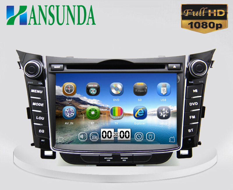 7 inch car dvd player for hyundai i30 2010 2014 with 3g. Black Bedroom Furniture Sets. Home Design Ideas
