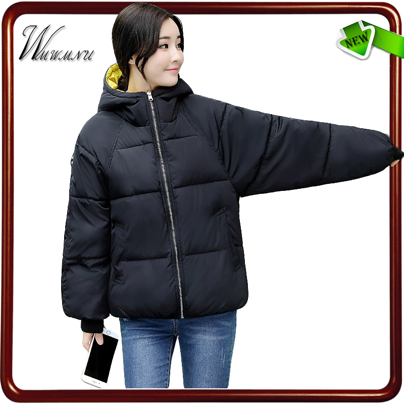 wmwmnu 2017 new plus size short winter jacket women and loose winter coat and short parka mujer fashionable thick winter coats plus size fashionable short sleeve laciness spliced striped loose shirt for women