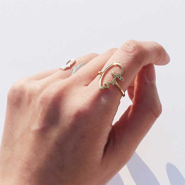 Original Design High Polished Alloy New Arrival Hollow Face Statement Ring Fashi