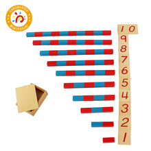 Baby Toy Montessori Small Numerical Rods Math Learning Education Classic Wood Kids Toys