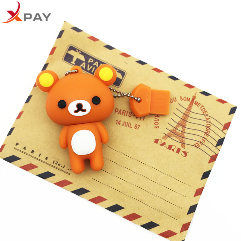 Image 4 - USB 2.0 Lovely Cartoon Bear Pendrive 128GB 64GB 32GB 16GB 8GB 4GB USB flash memory stick Pen Drive Silicone flash disk for gift-in USB Flash Drives from Computer & Office