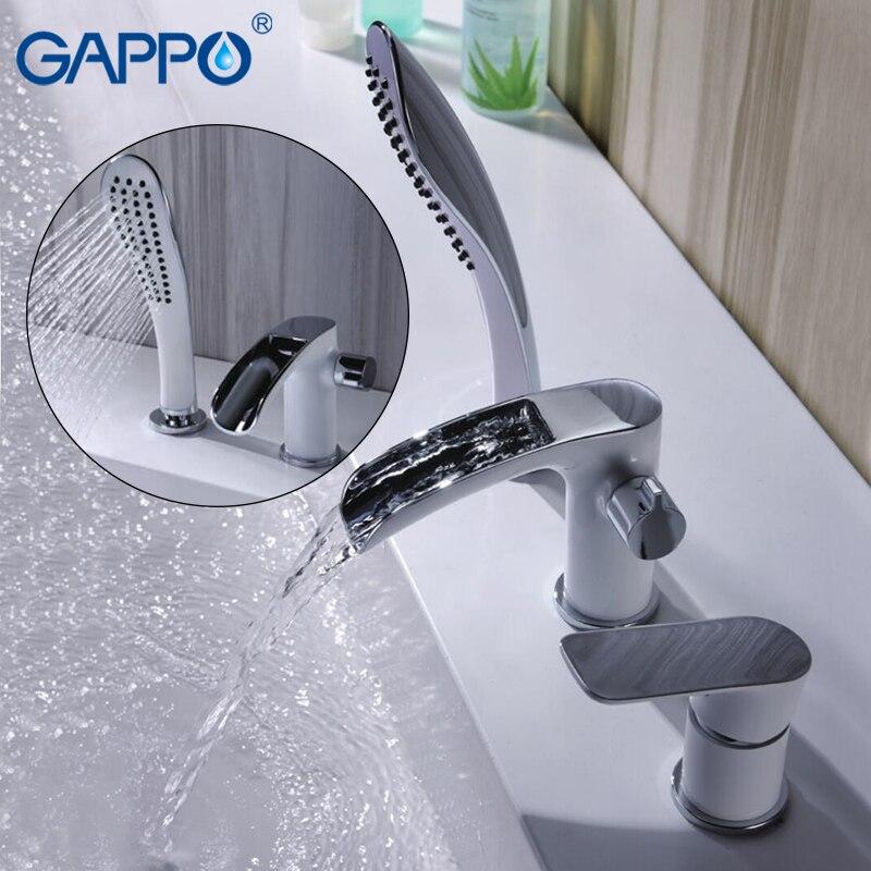 GAPPO badewanne wasserhahn bad dusche Bad Dusche Wasserhahn Wasserhahn set wasserfall bronze bad wasserhahn robinet banheira wasserhahn GA1148-8