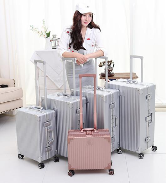 26 PULGADAS 1620242629 # venta de actualización de cero de Una generación maleta tronco ruedas carro universal de oro rosa # CE ENVÍO GRATIS