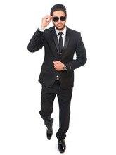 2016 New Arrival Black blue deep burgundy suits groom Wear suits men's business casual wedding designer suit (jacket+pants)