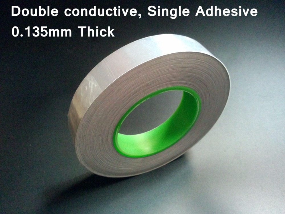 T=0.135mm W=80mm L=50M Single Adhesive, Two Sides Conducting, Aluminum Foil EMI Shielding Tape fit for LCD, Fix t 0 135mm w 25mm l 50m single adhesive two sides conducting aluminum foil emi shielding tape fit for phone laptop
