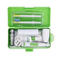 Portable Faucet Oral Jet Irrigator Water Dental Flosser Toothbrush Head Removeable Floss Implement with Box 2 Jet Tips Sprinkler