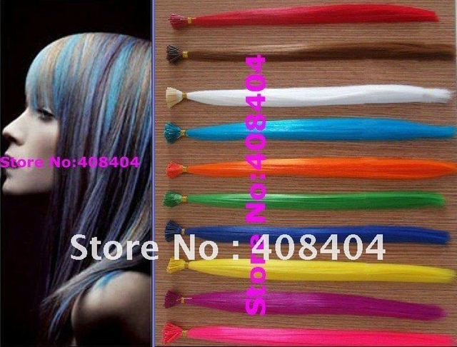 Cheap Fashion Colorful Synthetic Hair Extensions Crazy Bright Color