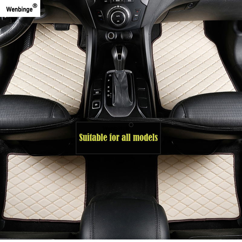 Custom car Floor mats for Mazda All Models cx5 CX-7 CX-9 RX-8 Mazda3/5/6/8 March May 323 ATENZA accessorie car Styling Floor mat Black Floor Mats & Cargo Liners