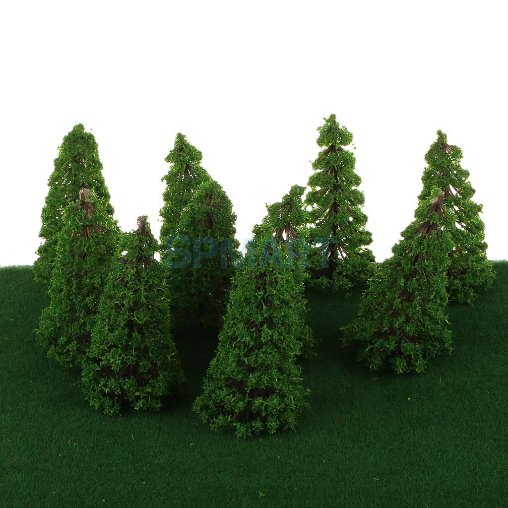 20pcs Model Cedar Trees Train Railway Scenery Layout 1:150 N Scale