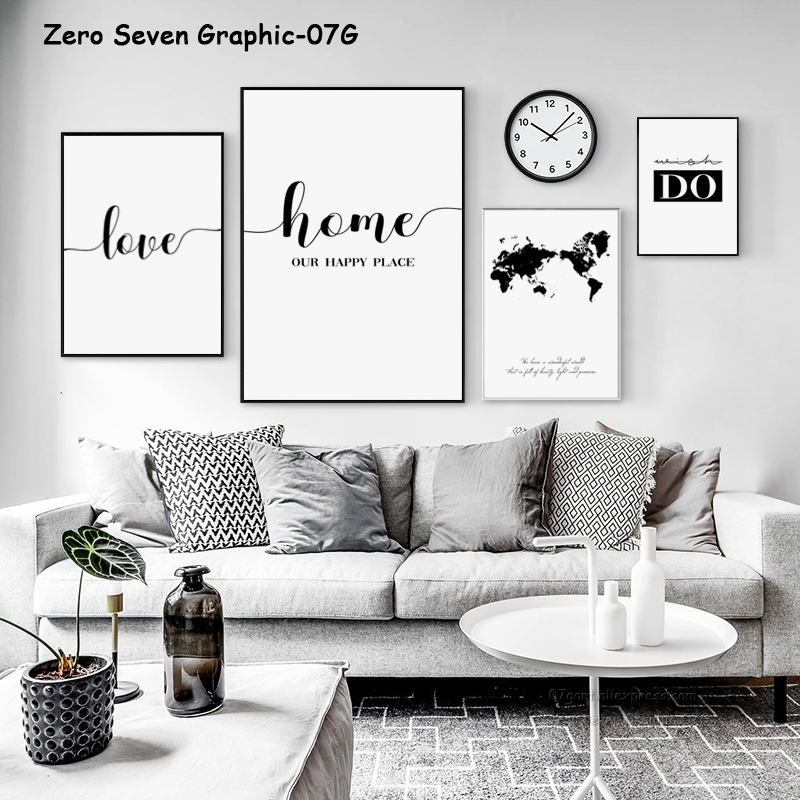 US $2.48 54% OFF|Minimalistic Phrase And World Map A4 Canvas Painting  Prints Art Wall Pictures Living Room Posters Bedroom Decoration Home  Murals-in ...